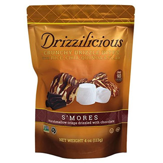 Drizzilicous S'mores Bites Mini Rice Cakes with Dark Chocolatey Drizzle MAIN