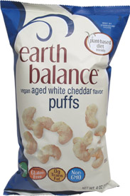 Earth Balance Aged White Cheddar Flavor Puffs LARGE