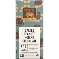 Salted Peanuts Dark Chocolate Bar by Endangered Species Chocolate THUMBNAIL