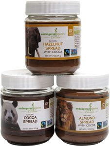 Natural Chocolate Spreads by Endangered Species Chocolate