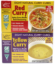 Natural Curry Broth and Seasoning Cubes by Edward & Sons
