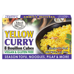 Yellow Curry Bouillon Cubes by Edward & Sons THUMBNAIL