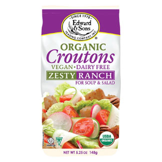 Edward & Sons Organic Zesty Ranch Croutons LARGE