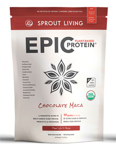 Epic Protein Organic and Raw Protein Powder by Sprout Living - Chocolate Maca