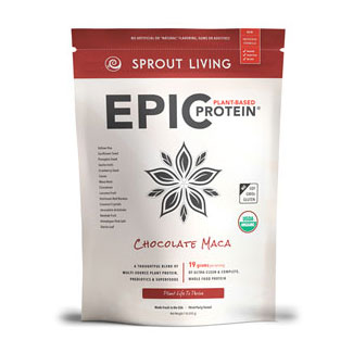 Epic Protein Organic and Raw Protein Powder by Sprout Living - Chocolate Maca MAIN