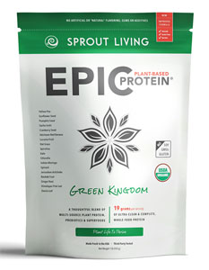 Epic Protein Organic and Raw Protein Powder by Sprout Living - Green Kingdom