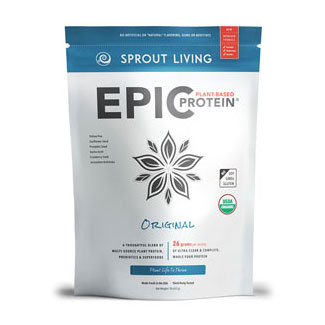 Epic Protein Organic and Raw Protein Powder by Sprout Living - Unflavored LARGE