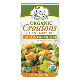 Edward & Sons Organic Garlic Parmezen Croutons MAIN