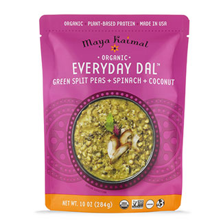 Organic Everyday Dal with Green Split Lentils + Spinach + Coconut MAIN