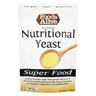 Foods Alive Non-Fortified Nutritional Yeast - 1 oz. Mini Pack MAIN