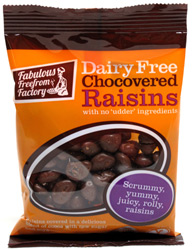 Vegan Chocolate Covered Raisins by Fabulous Freefrom Factory