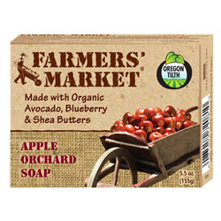 Farmer's Market Organic Bar Soaps - Apple Orchard THUMBNAIL