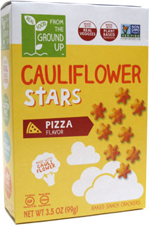 Pizza Flavor Cauliflower Stars Crackers by From the Ground Up