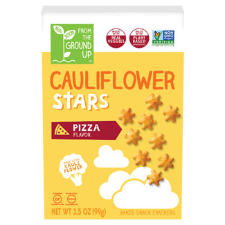 Pizza Flavor Cauliflower Stars Crackers by From the Ground Up MAIN