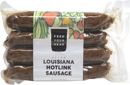Vegan Louisiana Hotlink Sausages by Feed Your Head