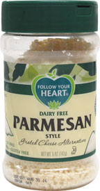 Follow Your Heart Vegan Grated Parmesan Style Cheese Shaker Bottle
