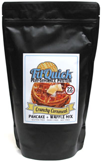 FitQuick Crunchy Cornmeal Protein Pancake & Waffle Mix