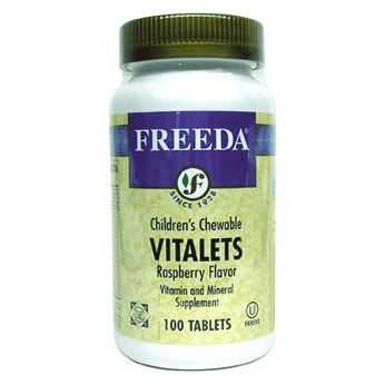 Children's Vitalets Chewable Multi-Vitamins by Freeda - Raspberry MAIN