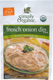 French Onion Dip Mix by Simply Organic LARGE