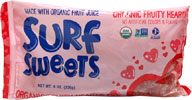 Organic Fruity Gummi Hearts by Surf Sweets - 2 Sizes