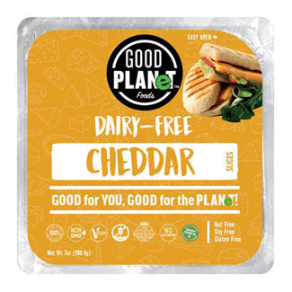 Good Planet Cheddar Cheese Slices MAIN
