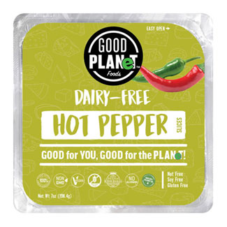 Good Planet Hot Pepper Cheese Slices MAIN