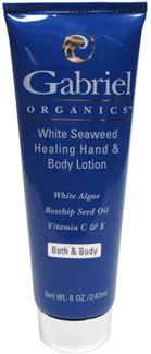 White Seaweed Healing Hand & Body Lotion by Gabriel Organics LARGE