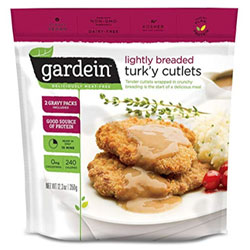 Gardein Lightly Breaded Turk'y Cutlets with Homestyle Gravy THUMBNAIL
