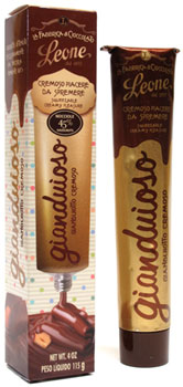Gianduioso Gianduiotto Hazelnut Chocolate Cream Squeeze Tube by Leone