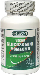Vegan Glucosamine with MSM & CMO by DEVA_LARGE