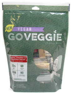 Vegan White Cheddar & Meatless Bacon Cheese Snacks by Go Veggie