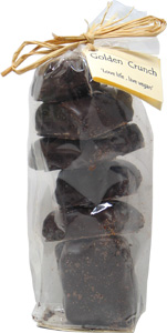 "Bag of Dark Chocolate Golden Crunch (Chocolate Covered Vegan ""Fairy Food"" aka ""Sponge Candy"")"