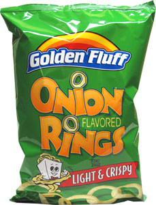 Golden Fluff Onion Flavored Rings Snacks