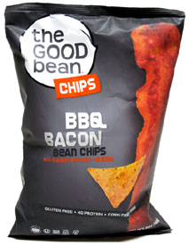 BBQ Bacon Flavored Vegan Bean Chips by The Good Bean