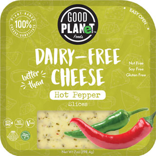 Good Planet Hot Pepper Vegan Cheese Slices