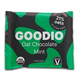 Goodio Organic Oat Milk Chocolate Bar - Mint THUMBNAIL