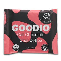 Goodio Organic Oat Milk Chocolate Bar - Chai Coffee THUMBNAIL