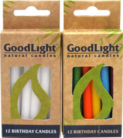 Vegan Birthday Candles by GoodLight