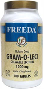 Chewable Soy Lecithin Tablets by Freeda Vitamins LARGE