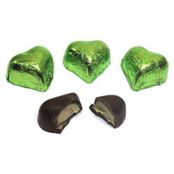 Organic Green Tea & Lemon Dark Chocolate Truffle Hearts by Sjaaks THUMBNAIL