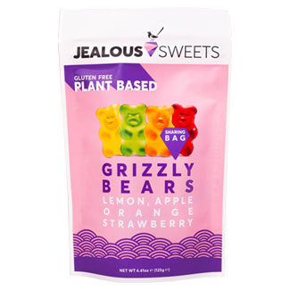 Jealous Sweets Grizzly Bears Gummy Candies - 125g bag MAIN