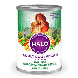 Halo Holistic Garden of Vegan Recipe Adult Dog Food Cans THUMBNAIL