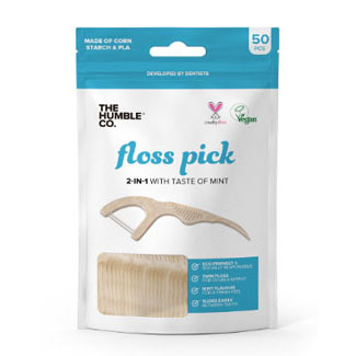 Corn Starch Compostable Floss Picks by The Humble Co. MAIN