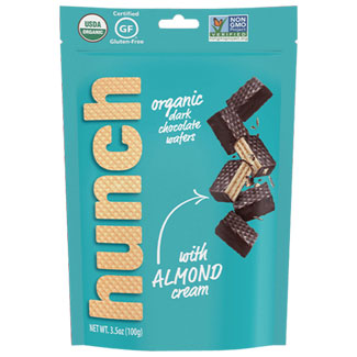Hunch Organic Dark Chocolate Wafers - Almond Cream MAIN