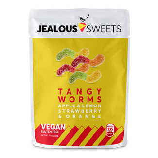 Jealous Sweets Tangy Worms Candies  - 40g bag MAIN