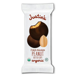 Justin's Organic Dark Chocolate Peanut Butter Cups - 2 cup pack MAIN