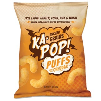 Ka-Pop! Dairy-Free Cheddar Puffs - 4 oz. bag MAIN