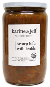 Organic Savory Tofu with Lentils by Karine & Jeff French Cuisine