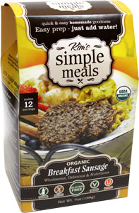 Organic Breakfast Sausage Mix by Kim's Simple Meals