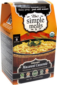 Organic Cheezy Macaroni Casserole Mix by Kim's Simple Meals